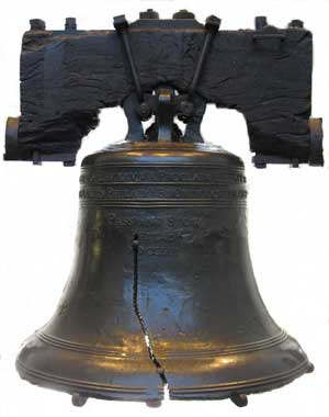 The Liberty Bell in Philadelphia is a symbol of our freedom.