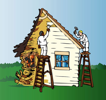 Houses must be repaired and remodeled in order to sell them to retail buyers.